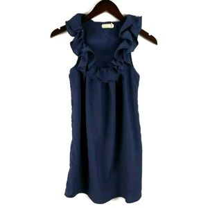 Pins and Needles UO slate blue ruffle tunic top
